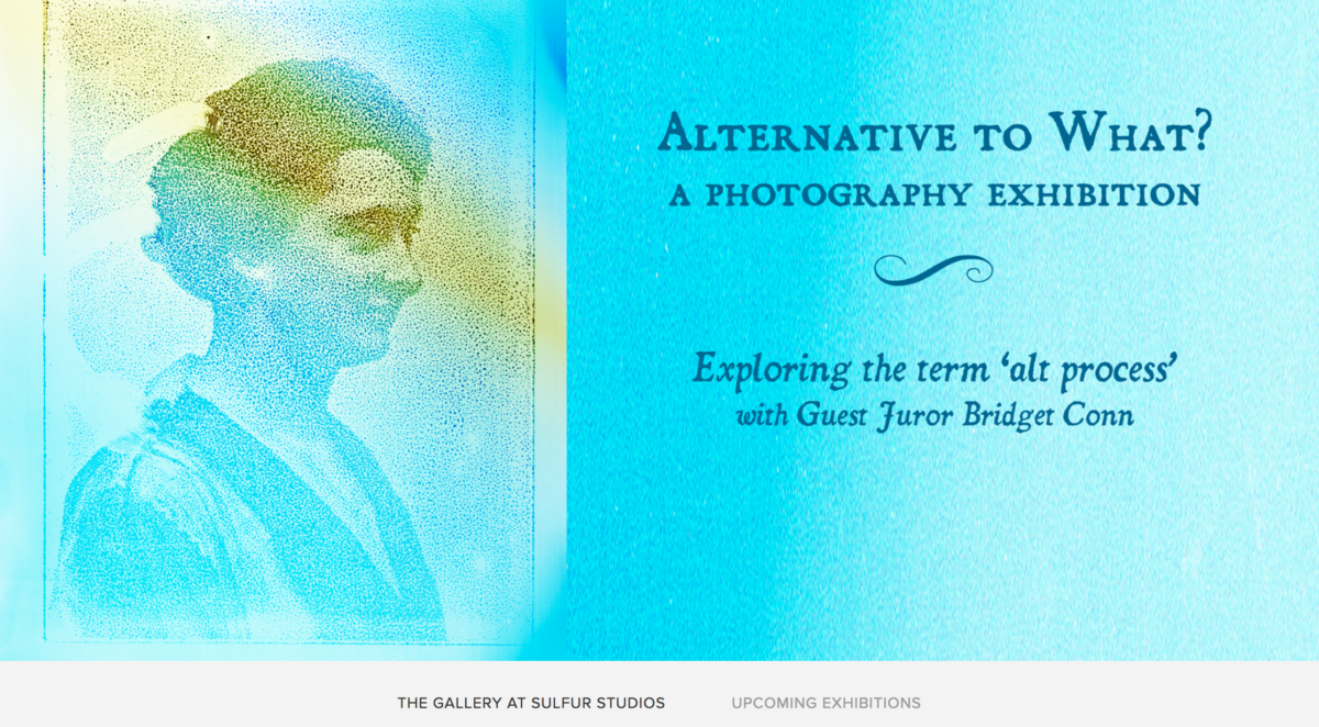 screen capture of the promotional image for the Alternative to What exhibit at Sulfur Studios